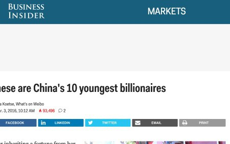These Are China's 10 Youngest Billionaires (Business Insider)